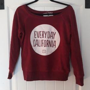 Everyday California off the shoulder sweatshirt